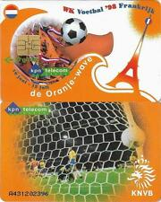 THE NETHERLANDS KPN TELECOM NATIONAL TEAM 1998 WORLD CUP FOOTBALL PHONECARD 10GL