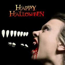 2 Pairs Halloween Party Cosplay Vampire Fangs Werewolf Teeth Dress Costume Tooth