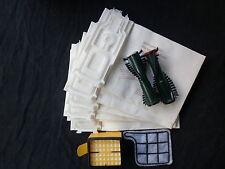 6 Staubsaugerbeutel geeignet Vorwerk Kobold 135 136 + Filterset + Bürsten EB 351