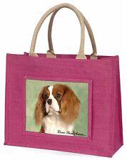 Blenheim King Charles 'Love You Mum' Large Pink Shopping Bag Chri, AD-SKC7lymBLP