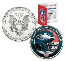 PHILADELPHIA EAGLES 1 Oz .999 Fine Silver American Eagle $1 US Coin NFL LICENSED