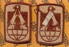 US Army 11th Signal Brigade Desert DCU duty uniform patch m/e