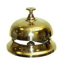 Polished brass desk bell- hotel bell- service bell- 10cm