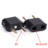 US AU EU To**EU Plug Travel Wall AC Power Charger Outlet Adapter Cable TB