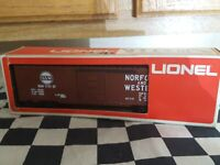 Lionel O-GAUGE 3Rail N&W Boxcar Freight Train Car NWB Nice
