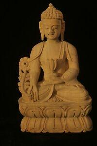 MEDICINE BUDDHA STATUE WOOD 22cm