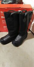 Fire Fighter Boots Leather Size 5-1/2 M