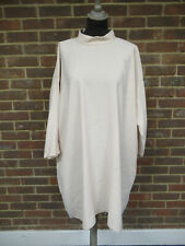 Cos Light Apricot Long Sleeved High Collared Smock Dress Size: 16