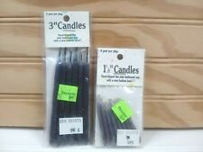 Vtg Bravo! Hand Dipped Mini Taper Candles Gray Miniature Dollhouse Crafting NOS
