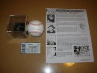 Mike Schmidt  Autographed Baseball with Case, Ticket, and Event Brocure