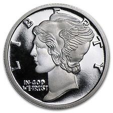 1/10 oz Silver Round - APMEX (Mercury Dime) - SKU #60933
