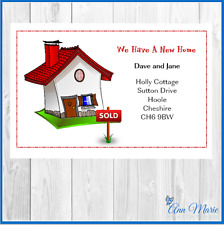 10 PERSONALISED WE HAVE MOVED/NEW HOUSE/CHANGE ADDRESS CARDS WITH ENVELOPES