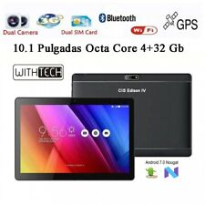 10,1 Tablet WITHTECH , 3G, OCTA CORE, 4 GB RAM DUAL SIM NEGRA CON FUNDA