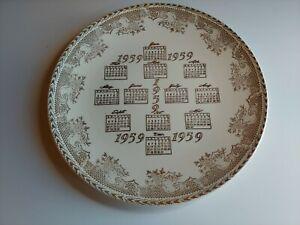 Vintage 1959 Calendar Plate Great Condition