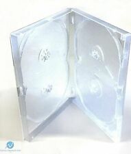 10 x 4 Way Clear DVD Multibox 15mm [4 Discs] Empty New Replacement Amaray Case