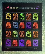 2019USA Forever Spooky Silhouettes - Sheet of 20  Mint  halloween