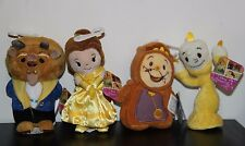 Disney Beauty and the Beast Live Movie Plush Belle, Beast, Lumiere and Cogsworth