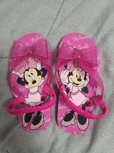 Sandals Minnie Mouse For Toddler Girls. Size 11-12. Pink