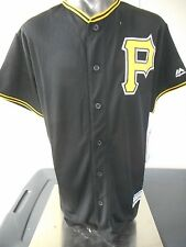 Majestic MLB Pittsburgh Pirates Cool Base Youth Blank Black Jersey LOOK L