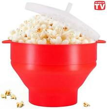 Microwaveable Silicone Popcorn Popper Collapsible Hot Air Popcorn Maker Bowl