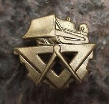 Czech Czechoslovak Army Uniform Badge Military Engineer Division Bulldozer Pin