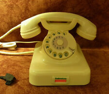 Telefon Bakelit W 48 Telephone Fernsprecher  elfenbein  DFG