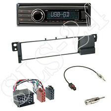 Caliber RMD212 Autoradio + BMW 3er (E46) 1-DIN Blende schwarz + ISO Adapter Set