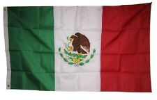 3x5 Embroidered Mexico Mexican 210D-D Sewn Nylon Flag 3'x5' Double Sided
