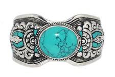 Turquoise Bracelet Tibetan cuff Bracelet Silver Bracelet Hippie Bracelet Gypsy