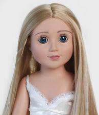 Zoe from Carpatina, 18 inch Slim Blonde Blue Eyes Doll similar with Magic Attic