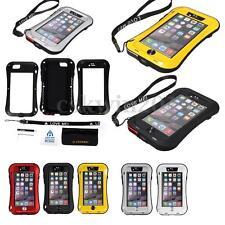 Love Mei für iPhone 5C spritz Wasserdicht Stabiles Metallgehäuse Schutz rot