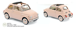 1/18 Norev Fiat 500 L 1968 Pink Special Birth Pack Précommand Livraison Juillet