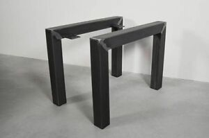 Live Edge Metal Coffee Table Legs (Actual: 2-in x 2-in)