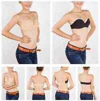 Stapless Black Beige Women Underwire Multi-Way Invisible Bra Band 34 36 Cup B C