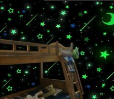 100Pcs Stars Glow In The Dark Stickers Wall Decal Kids Baby Bedroom Luminous