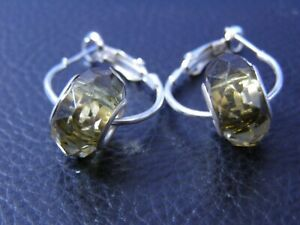 UNIQUE DESIGNER PAIR EARRINGS FACETED SILVER CORE BEADS BIRTHDAY GIFT