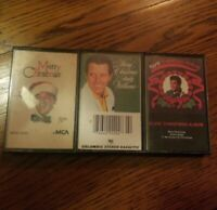 Lot of 3 Vintage Christmas Cassette Tapes Andy Williams Elvis Presley All Star