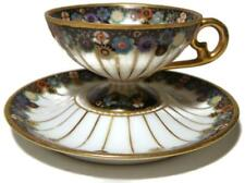 Antique Royal Schwarzburg Art Deco Pedestal Demitasse Cup & Saucer