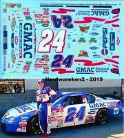 NASCAR DECAL #24 TEAM GMAC 2001 BGN MONTE CARLO RICKY HENDRICK SLIXX