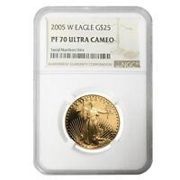 2005 W 1/2 oz $25 Proof Gold American Eagle NGC PF 70 UCAM