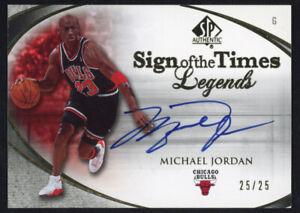 MICHAEL JORDAN Autographed Bulls Sign of the Times Legends UD Card LE 25/25
