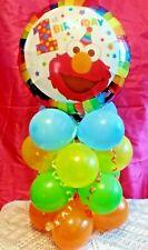 "18"" FOIL BALLOON TABLE DISPLAY DECORATION AIR FILL  1st BIRTHDAY ELMO SESAME ST"