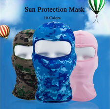 Cycling lycra Balaclava Full Face Mask Outdoor Ski Ultra-thin Neck Protecting #q