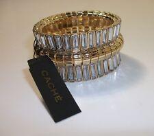 Cache Gold crystal Elastic Stretch Bracelet NWT $58.00