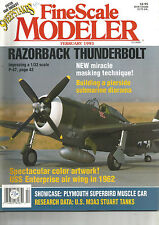 FINESCALE MODELER  FEBRUARY 1993 RAZORBACK THUNDERBOLT / PLYMOUTH SUPERBIRD