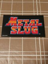 SNK NeoGeo METAL SLUG Die Cut Sticker e3 2004 Promo Lot Rare Swag Neo Geo PS2
