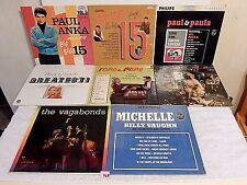 168 Lot 8LP+Paul Anka+Vagabonds+Peggy Lee+Phyllis Diller+Billy Vaughn+Paul/Paula