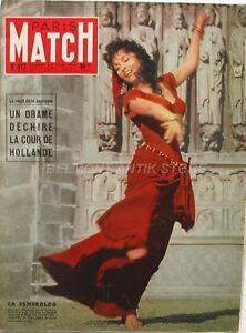 Paris Match n°377 - 1956 -  Gina Lollobrigida - Jean Babilee - Tito - Zatopek