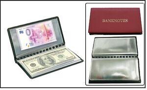 LOOK 313845-R ROTES BANKNOTEN TASCHENALBUM BANKNOTENALBUM bis 175x85mm