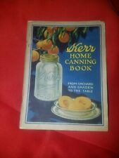 Kerr Home Canning Book From Orchard & Garden to the Table